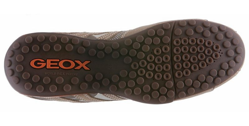 Geox Snake Sneaker im Materialmix beige-orange Mix aus Veloursleder und Mesh ase_38527_1