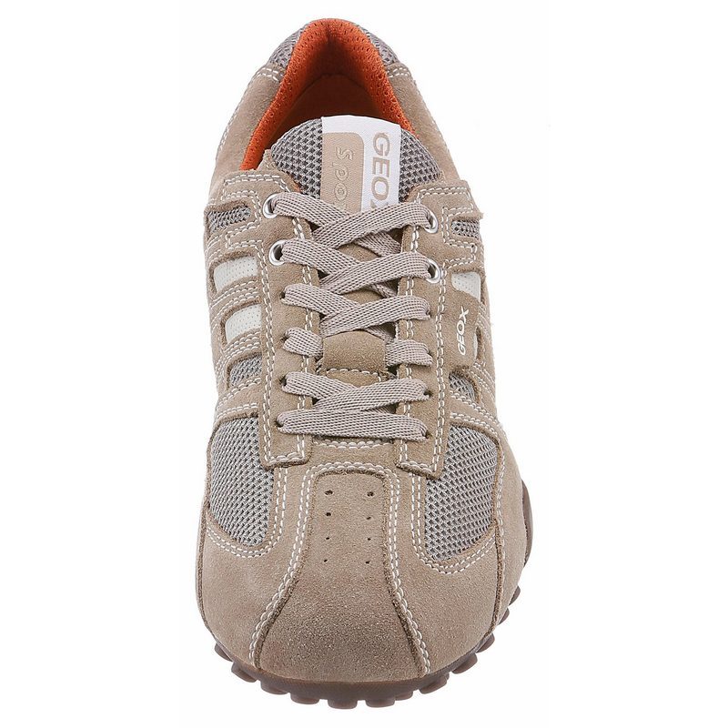 Geox Snake Sneaker im Materialmix beige-orange Mix aus Veloursleder und Mesh ase_38527_2