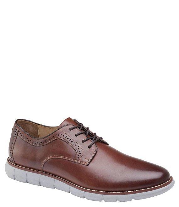 Giày Tây Da Bóng Leather Plain Toe Màu Đỏ Nâu Big Size