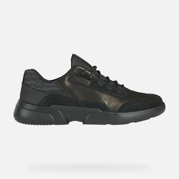 Giày Sneaker Thể Thao Geox Respira Da Mềm Màu Đen Big Size Men
