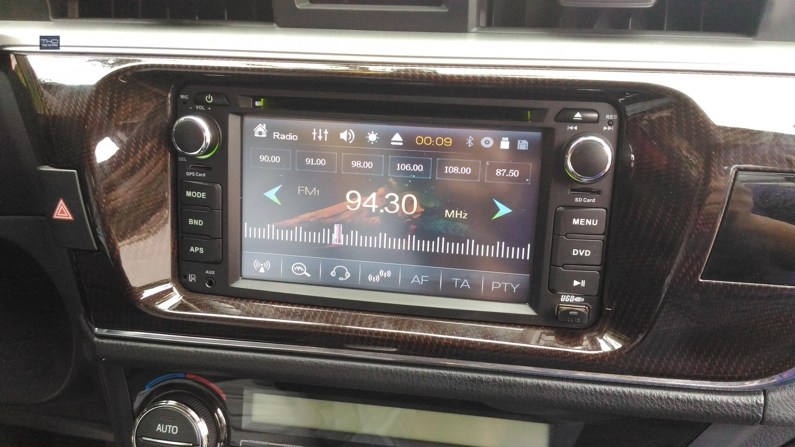 Màn DVD theo xe Toyota - Altis