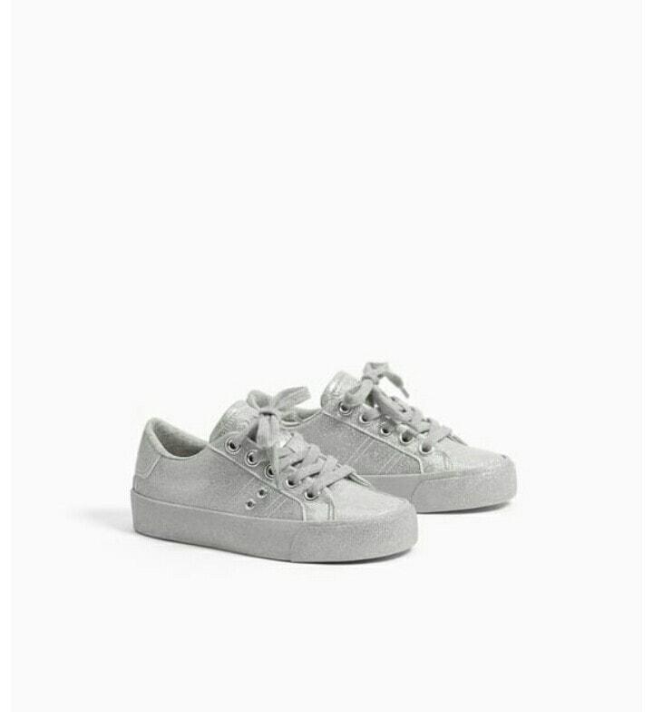 Sneaker Z.a.R.a ghi nhũ