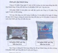 Thay đổi mẫu bao bì gói EMIC 1kg xử lý nước thải