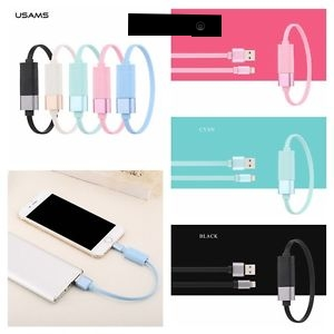 Cáp sạc Usams U-loop Bracelet Lightning Iphone 5,6,6S Ipad 4,Air,Air2,Mini 1,2,3,4 USB (20cm,có thể đeo vô tay)