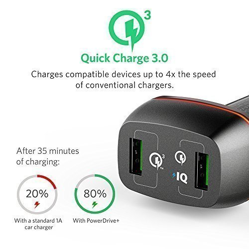 Sạc ôtô Anker PowerDrive+ 2 - 42W [Qualcomm Quick Charge 3.0]
