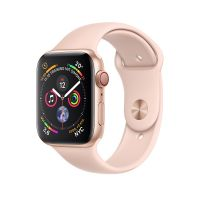 44mm - Gold Aluminum Pink Sand Sport Band ( GPS + 4G) - MTVW2