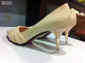 Giày cao gót da bóng chéo mũi đẹp