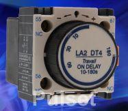 Khối tiếp điểm phụ trễ thời gian LADT4 -1NO + 1NC thời gian trễ 10 - 180s