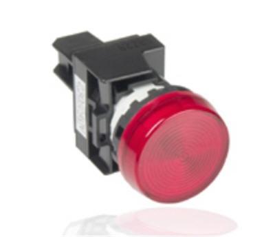 Đèn LED IDEC YW1P đỏ/vàng - Đèn báo IDEC 24V-220V - Đèn báo pha tủ điện IDEC YW1P