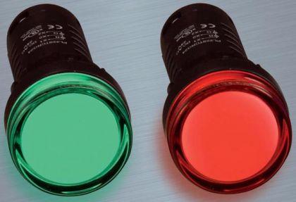 Đèn LED Ø22 màu xanh