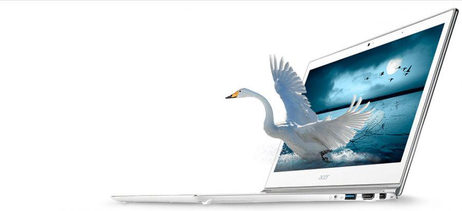 """Acer Aspire S7-392-6425 -13.3"""" WQHD/i5-4200U/256GB SSD/8GB//WIN8.1 Webcam CRYSTAL WHITE Backlit Keyb"""