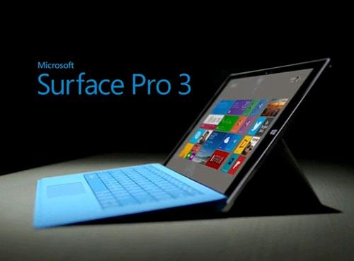 """MS Surface Pro 3, Màn hình 12.5"""", 2K+, I7 4650U 1.7 Upto 2.3 Ghz, RAM 8 GB, SSD 256 GB,"""
