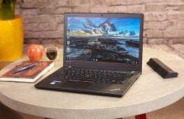 Lenovo ThinkPad T470, Màn hình 14,1' FHD IPS, Core I7-7600U 2.8 Ghz, RAM 8 GB, SSD 256 GB, New Open box,