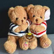 Gấu bông Teddy XJR áo len (40cm)