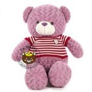 Gấu tím áo len sọc đỏ (1m4)