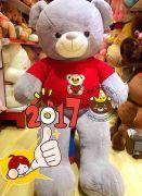 Teddy áo len gấu, lông nhung mịn (1m3, 1m5)