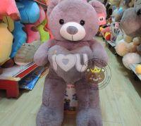 Gấu ôm tim xám I love you (90cm, 1m2, 1m4)