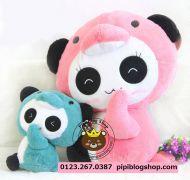 Gấu bông Panda chim cánh cụt hồng Hugsbaby Thái lan (90cm)