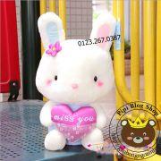 Gấu bông Thỏ ôm tim Nhật bản (40cm, 50cm, 60cm)