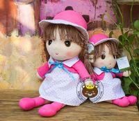 Gấu bông Búp bê mái ngố váy hồng (40cm, 60cm
