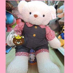 Gấu bông teddy mặc jump hình Nút (60cm, 80cm, 1m2, 1m4)