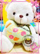 Gấu ôm tim I love you xanh lá (60cm, 80cm, 1m, 1m2)