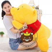 Gấu bông Pooh lông 3D siêu mềm (40cm, 55cm, 70cm)