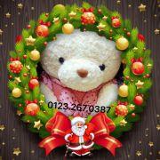 Gấu bông đầm chấm bi gấu hồng (60cm, 80cm, 1m2, 1m4)