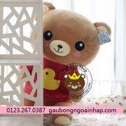 Gấu nâu Rilakkuma áo hồng (80cm)