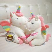 Gấu bông ngựa 1 sừng Unicorn kỳ lân cánh 7 màu Littlecucu (40cm, 55cm)
