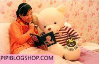 Gấu bông teddy lông siêu mịn (1m3)
