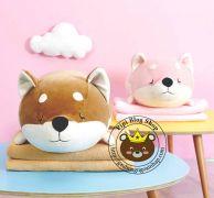Gối mền Chó shiba siêu dễ thương (1m * 1m5)
