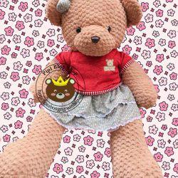 Gấu bông teddy pineapple váy đầm ABC (1m3, 1m5)