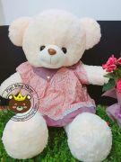 Gấu đầm Hana váy bi (60cm, 80cm, 1m2, 1m5)
