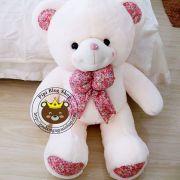 Gấu bông teddy hana nơ hoa (60cm, 80cm, 1m2, 1m4)