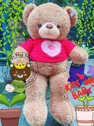 Gấu bông teddy áo len ILU (1m2)