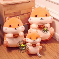 Gấu bông Hamster lông 3d Littlecucu dễ thương (40cm, 55cm, 70cm)