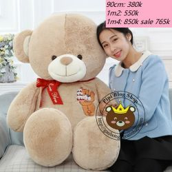 Gấu bông teddy Happy Birthday (90cm, 1m2, 1m4)