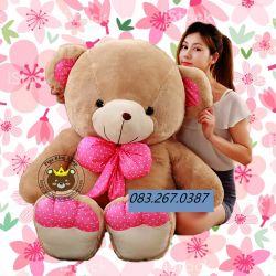 Gấu bông teddy Big nơ chấm bi hồng (1m5)