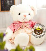 Gấu đầm hồng áo khoác (1m1, 1m3)