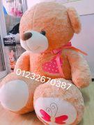 Gấu bông teddy lông mịn ngực tim (1m4)