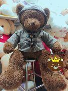 Gấu bông teddy áo khoác 2 lớp bubbery (80cm, 1m, 1m3)