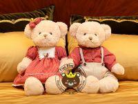 Gấu cặp Hàn quốc Teddy Lovely Bear đỏ (70cm)