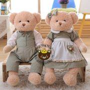 Gấu cặp Hàn quốc Teddy Lovely Bear xanh (70cm)