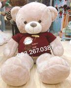 Gấu bông teddy áo len Super Star (1m4)