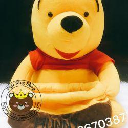 Gấu bông Pooh ôm hũ mật ong (60cm)