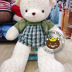 Gấu đầm áo khoác nhung (80cm, 1m2)