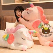 Gấu bông Ngựa 1 sừng Unicorn 7 màu nằm (45cm, 60cm, 90cm, 1m2)
