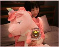 Gối ôm ngựa 1 sừng Unicorn hồng Littlecucu (70cm, 90cm, 1m2)