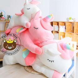 Gấu bông Ngựa 1 sừng Unicorn nằm (45cm, 60cm, 1m, 1m2, 1m4)